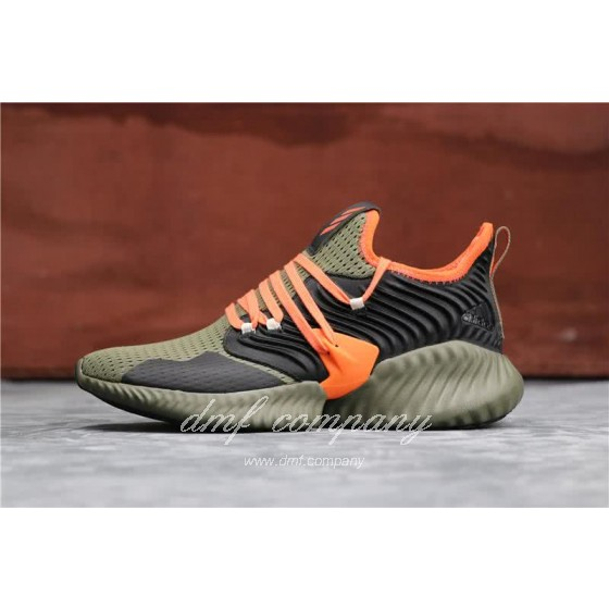 Adidas Alpha Bounce Atrovirens Black And Red Men And Women