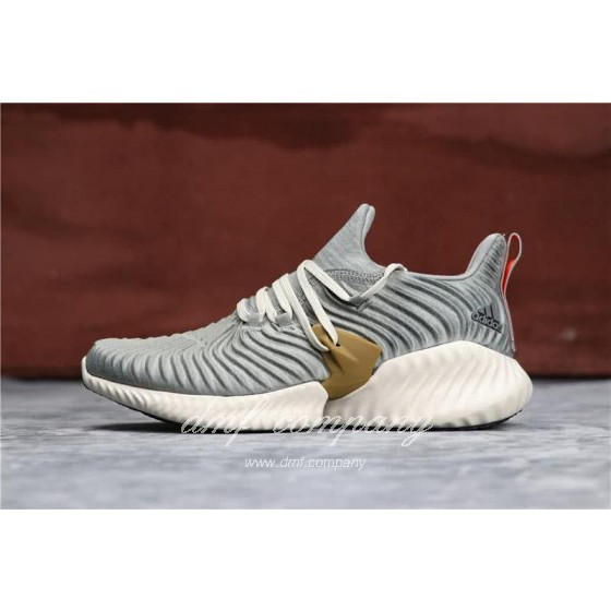 Adidas Alpha Bounce Grey Upper White Sole Men