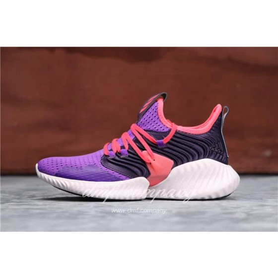 Adidas Alpha Bounce Purple Red And Black Upper White Sole Women