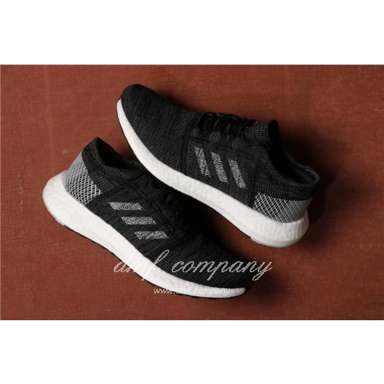 Adidas Pure Boost Men Women Black White Shoes