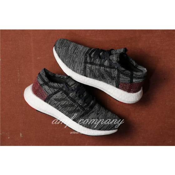 Adidas Pure Boost Men Black Grey Shoes