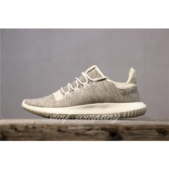 Adidas Tubular Shadow Heather Grey Upper And White Sole Men And Women