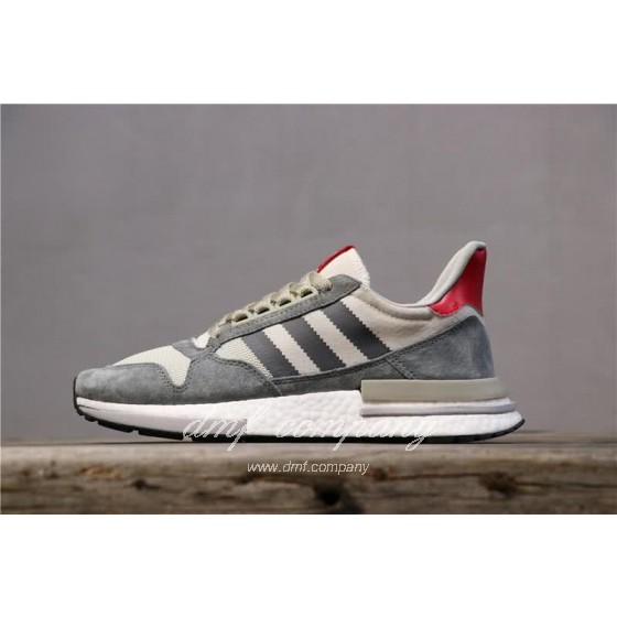 Adidas ZX500 RM Boost Grey White And Red Men And Women