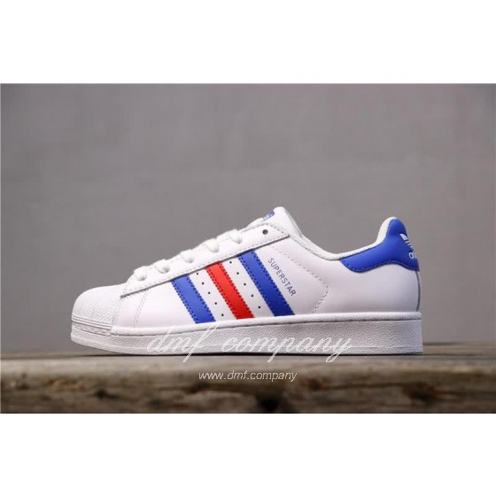 Adidas Originals Superstar White/Blue/Red Men/Women