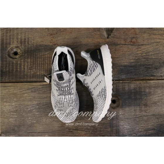 Adidas Ultra Boost 3.0 Men Women Black White Shoes