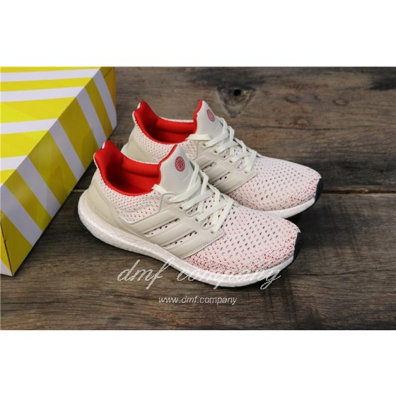 Adidas Ultra Boost TUANYUAN Men White Red Shoes