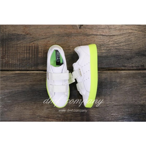 Adidas SLEEK S Women White Green Shoes