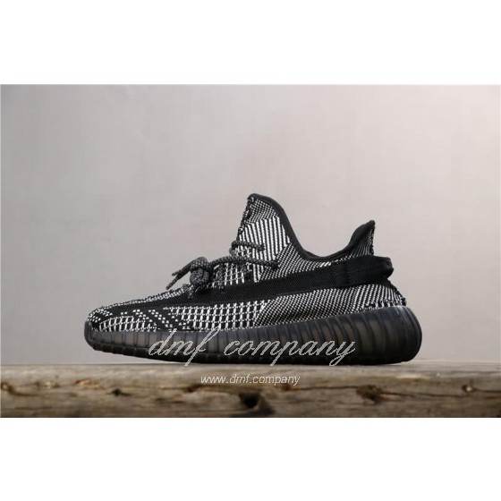 Adidas Yeezy Boost 350 V2 Men Women Black Static Reflective Shoes
