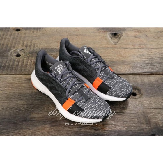 Adidas Sense Boost GO Men Women Black Grey Shoes