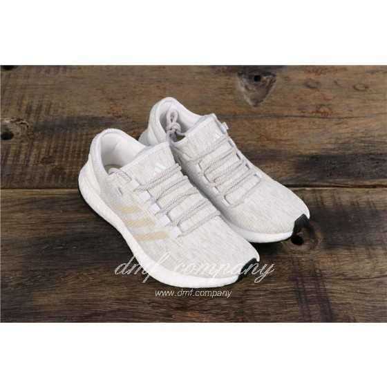Adidas Pure Boost Men Women White Shoes