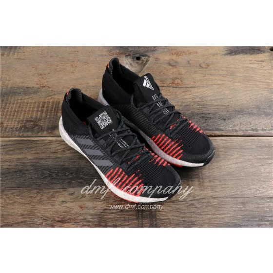 Adidas Pure Boost HD Men Black Red Shoes