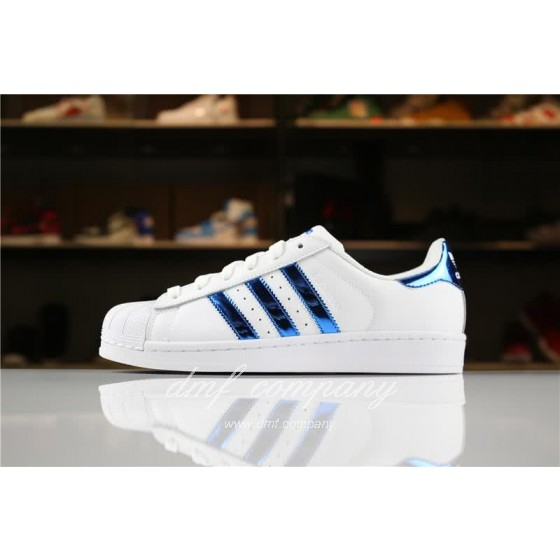 Adidas SUPERSTAR White and Blue Men/Women