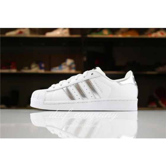 Adidas SUPERSTAR Sports Shoes  White/Silver Men/Women