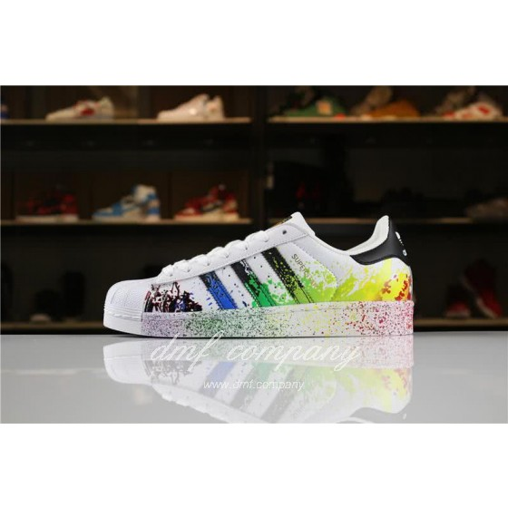 Adidas SUPERSTAR White and Ink Color Men/Women