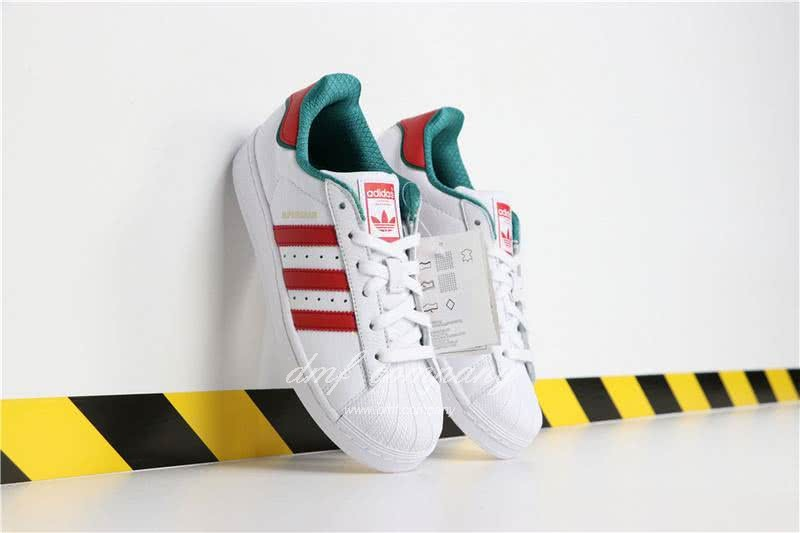 Adidas SUPERSTAR White and Red Men/Women 3