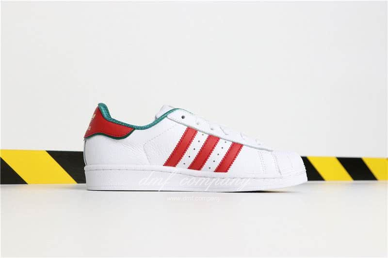 Adidas SUPERSTAR White and Red Men/Women 4