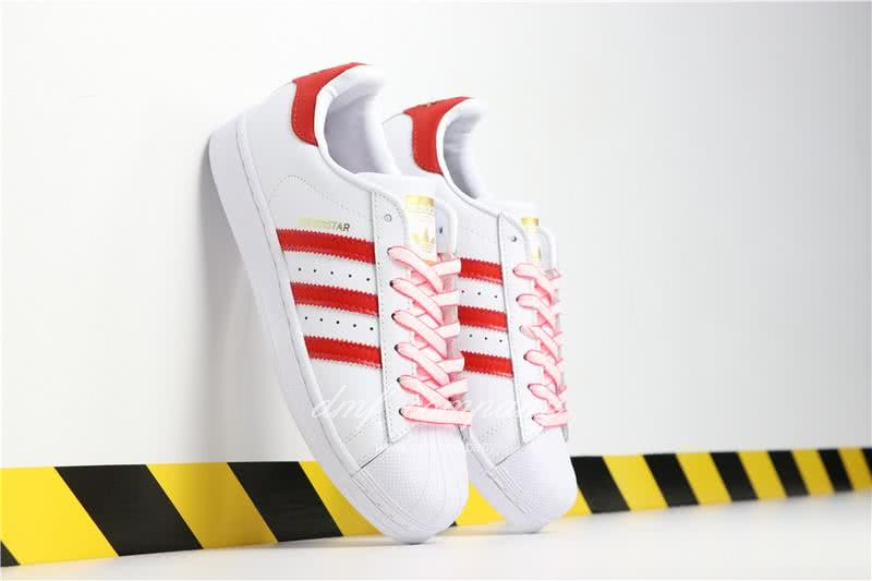 Adidas SUPERSTAR White and Red Men/Women 1