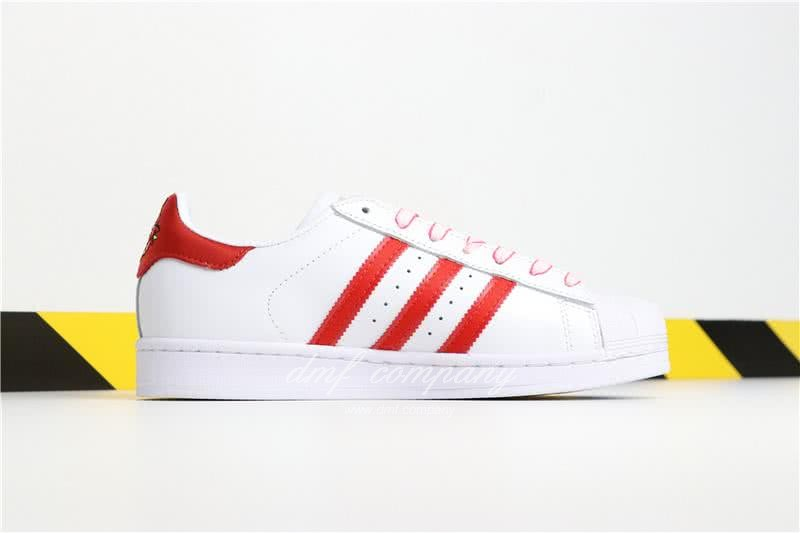 Adidas SUPERSTAR White and Red Men/Women 2