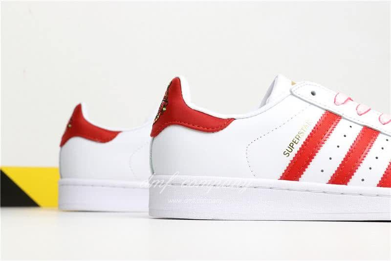 Adidas SUPERSTAR White and Red Men/Women 6
