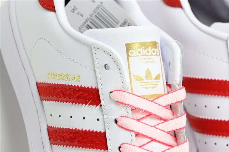 Adidas SUPERSTAR White and Red Men/Women 7