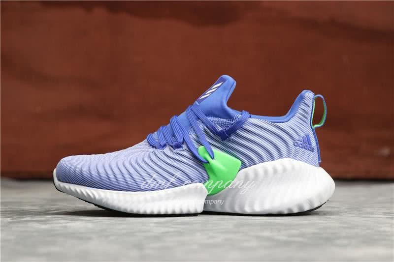 Adidas Alpha Bounce Blue Upper White Sole Women 1