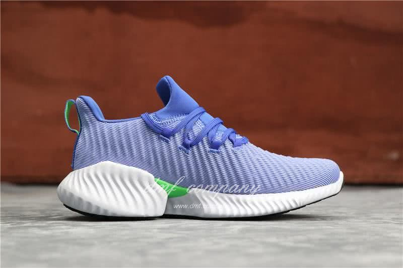 Adidas Alpha Bounce Blue Upper White Sole Women 2