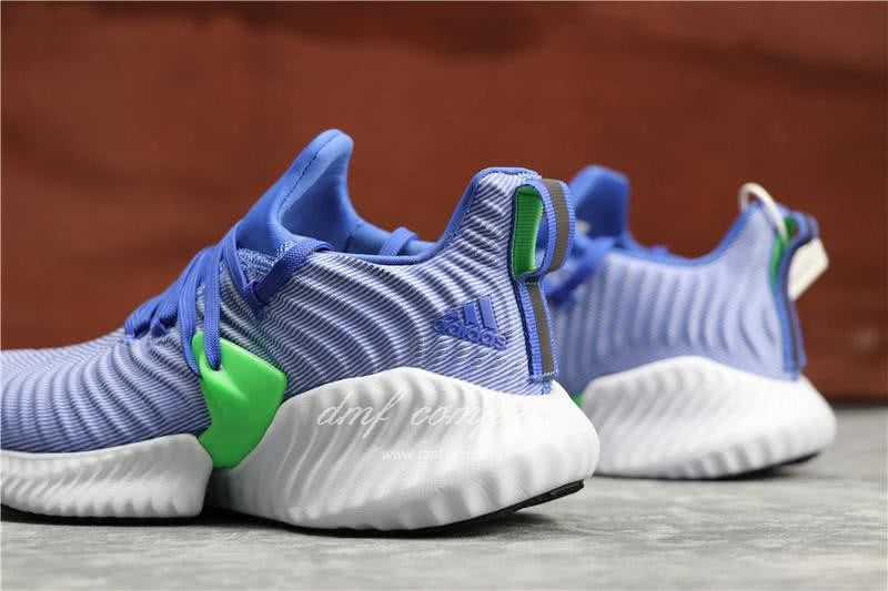Adidas Alpha Bounce Blue Upper White Sole Women 5