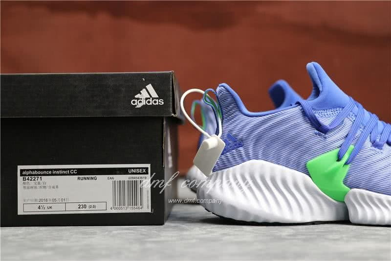 Adidas Alpha Bounce Blue Upper White Sole Women 6