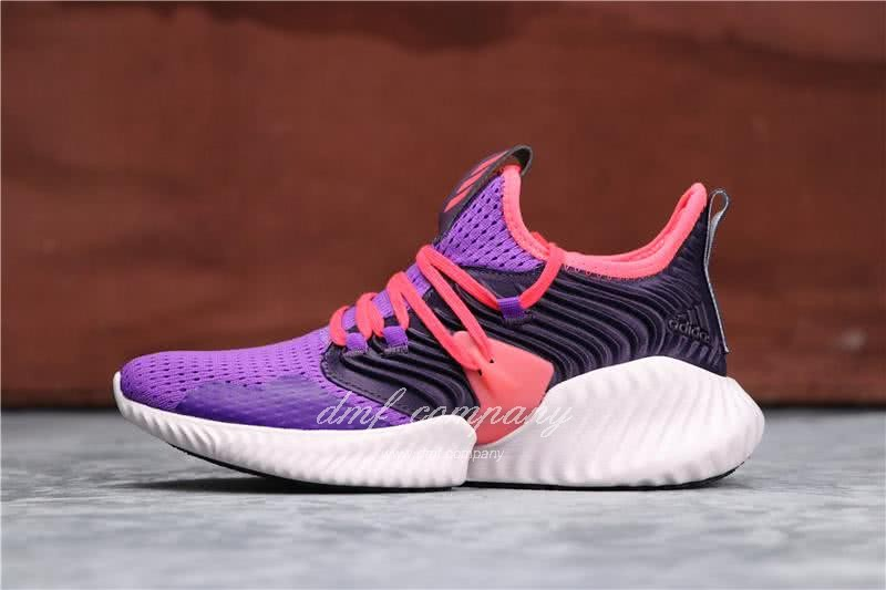 Adidas Alpha Bounce Purple Red And Black Upper White Sole Women 1