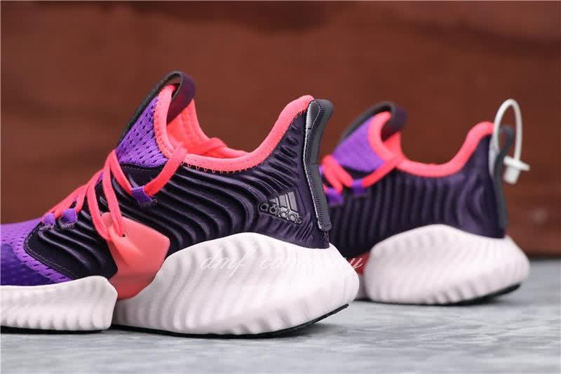 Adidas Alpha Bounce Purple Red And Black Upper White Sole Women 4
