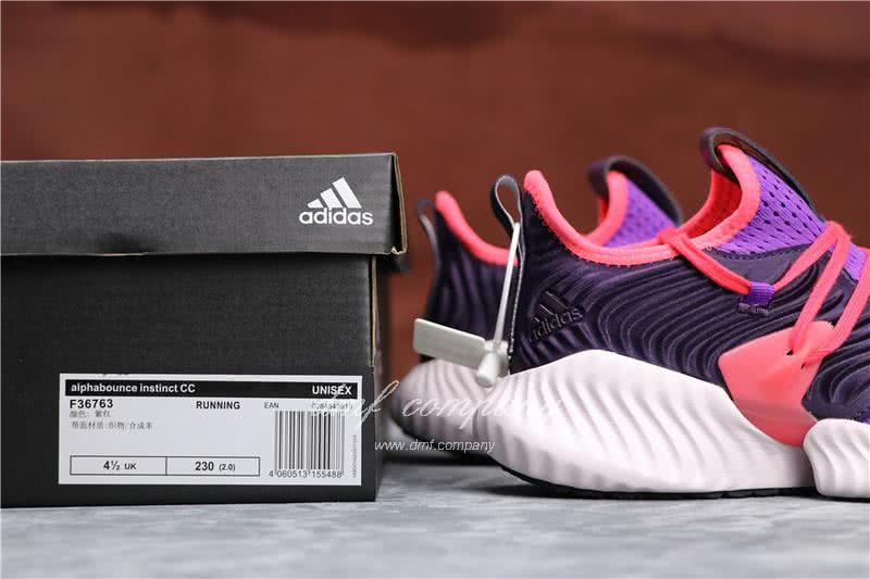 Adidas Alpha Bounce Purple Red And Black Upper White Sole Women 5