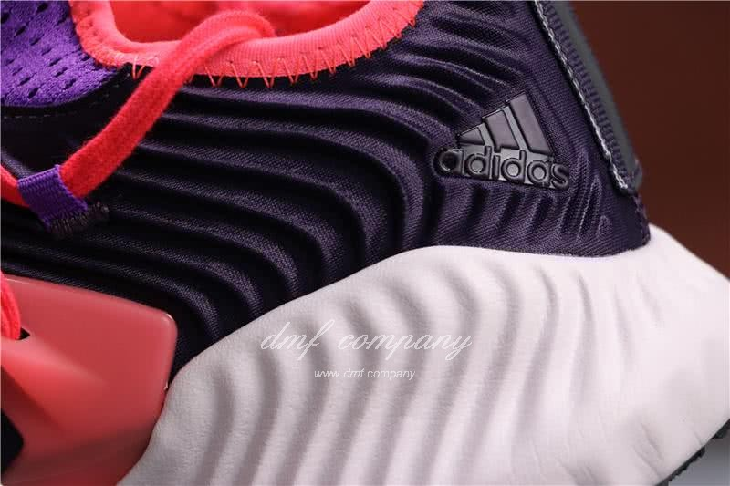 Adidas Alpha Bounce Purple Red And Black Upper White Sole Women 6