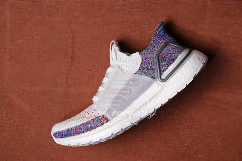 Adidas Ultra Boost 19 Men White Purple Shoes 2