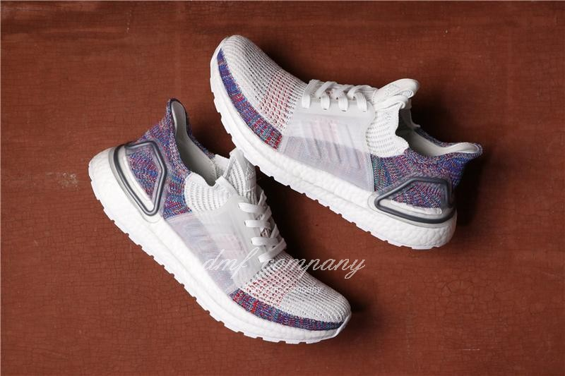 Adidas Ultra Boost 19 Men White Purple Shoes 3
