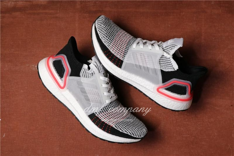 Adidas Ultra Boost 19 Men Black White Red Shoes 3