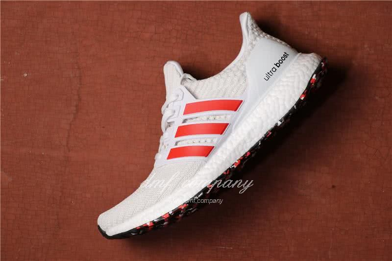 Adidas Ultra Boost 4.0 Men/Women White/Red 2