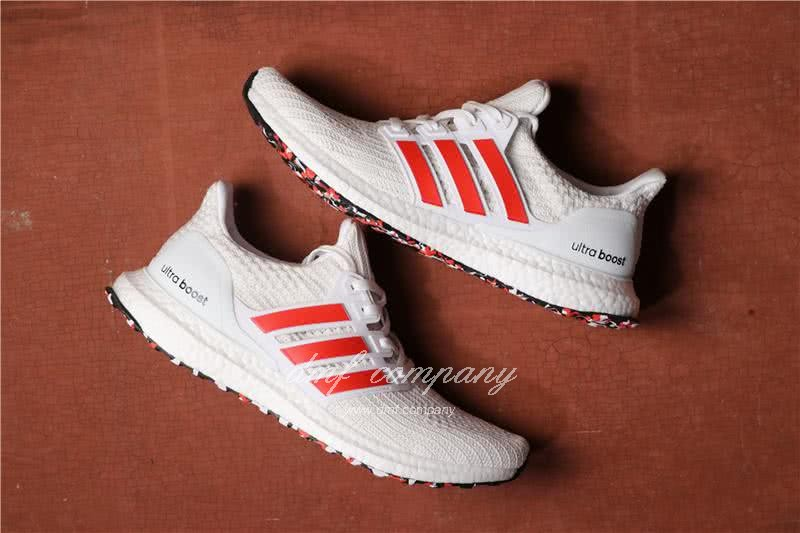 Adidas Ultra Boost 4.0 Men/Women White/Red 1