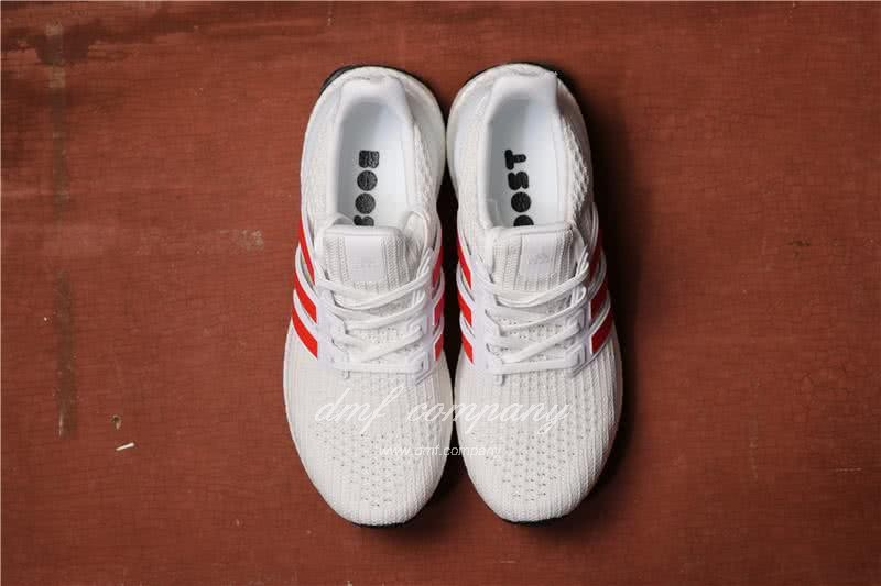 Adidas Ultra Boost 4.0 Men/Women White/Red 5