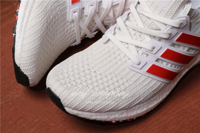 Adidas Ultra Boost 4.0 Men/Women White/Red 6