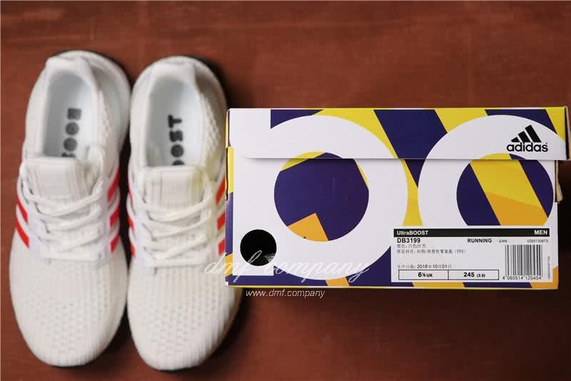 Adidas Ultra Boost 4.0 Men/Women White/Red 7