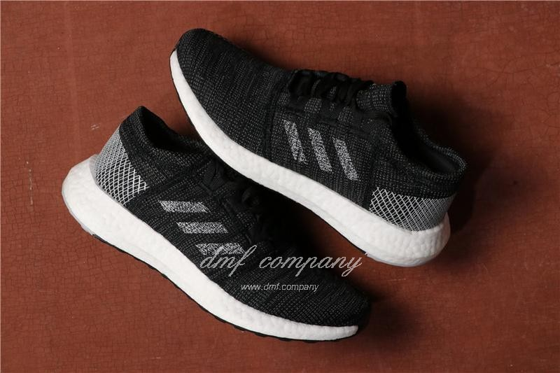 Adidas Pure Boost Men Women Black White Shoes 1