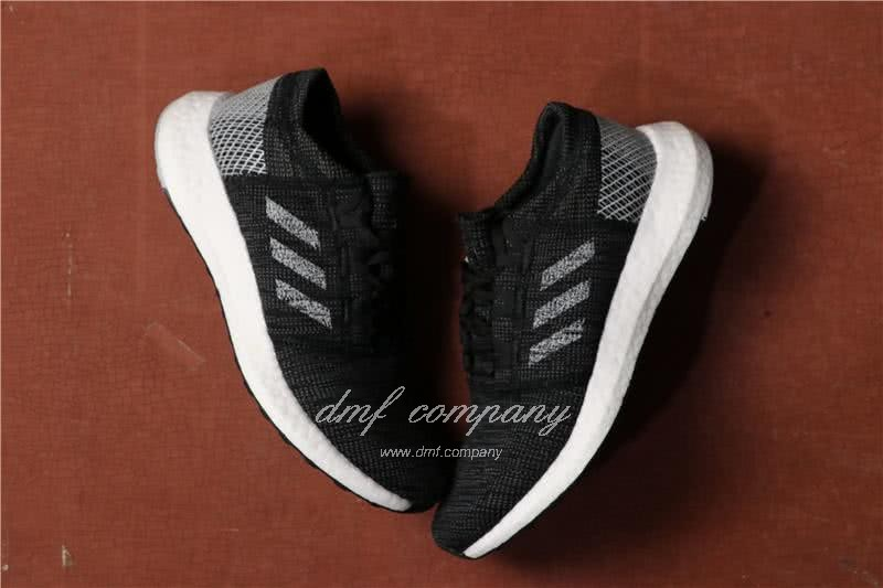 Adidas Pure Boost Men Women Black White Shoes 3