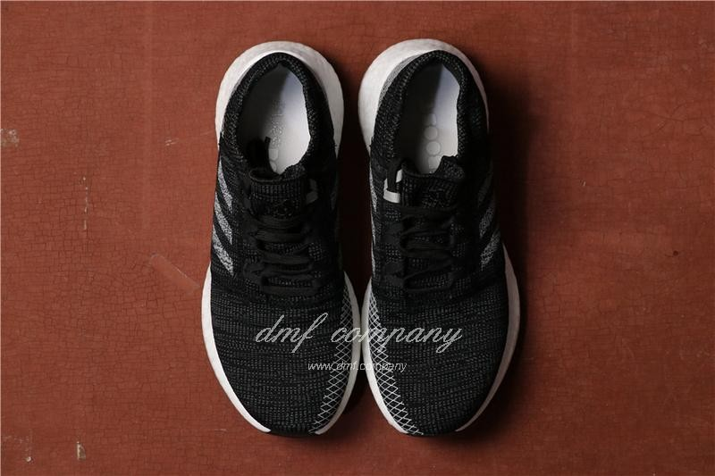 Adidas Pure Boost Men Women Black White Shoes 4