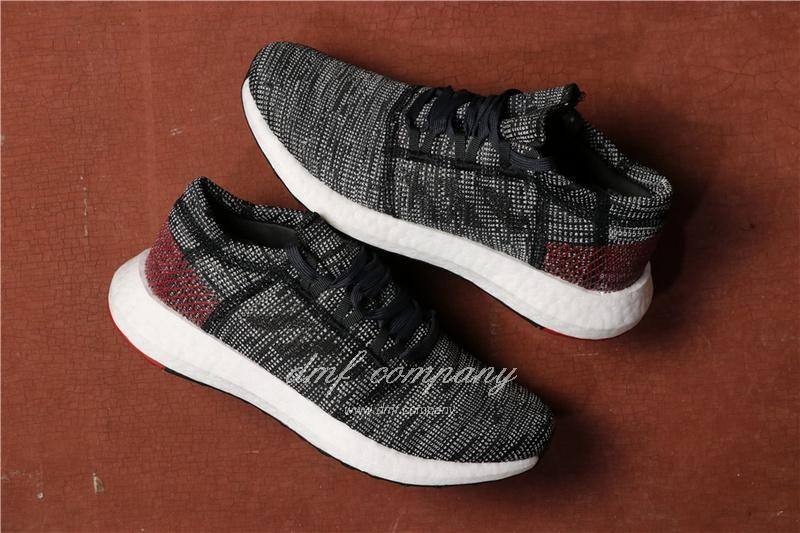 Adidas Pure Boost Men Black Grey Shoes 1