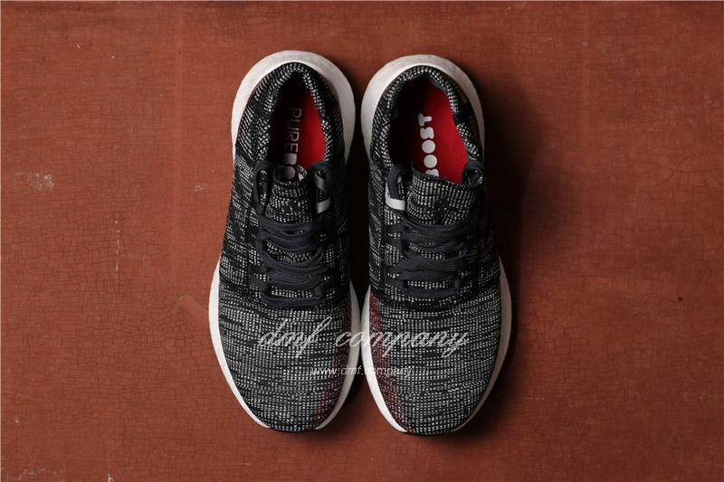 Adidas Pure Boost Men Black Grey Shoes 3