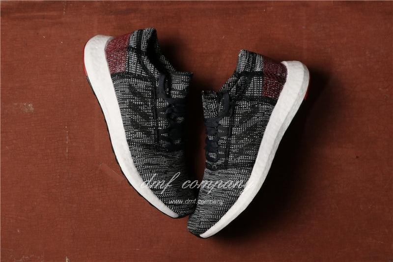 Adidas Pure Boost Men Black Grey Shoes 4