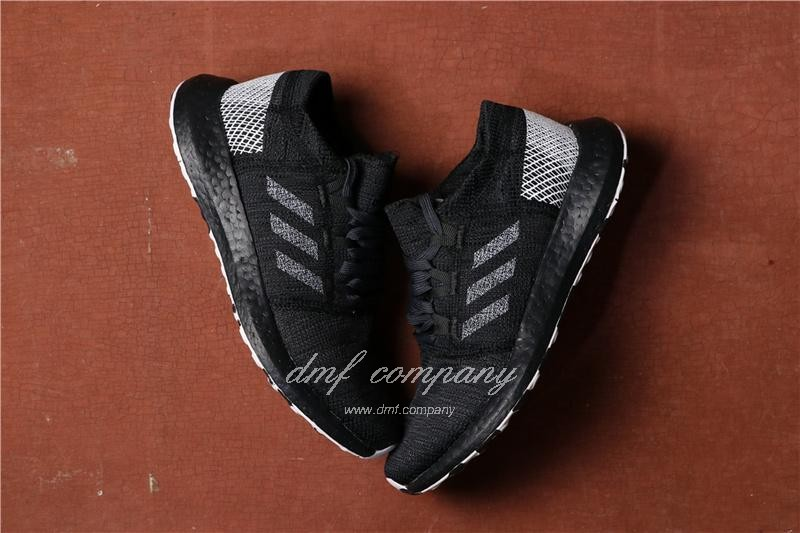 adidas Pure Boost Men Women Black Shoes 4