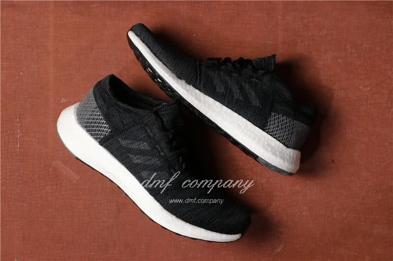 Adidas  Pure Boost Men And  Women Black 1