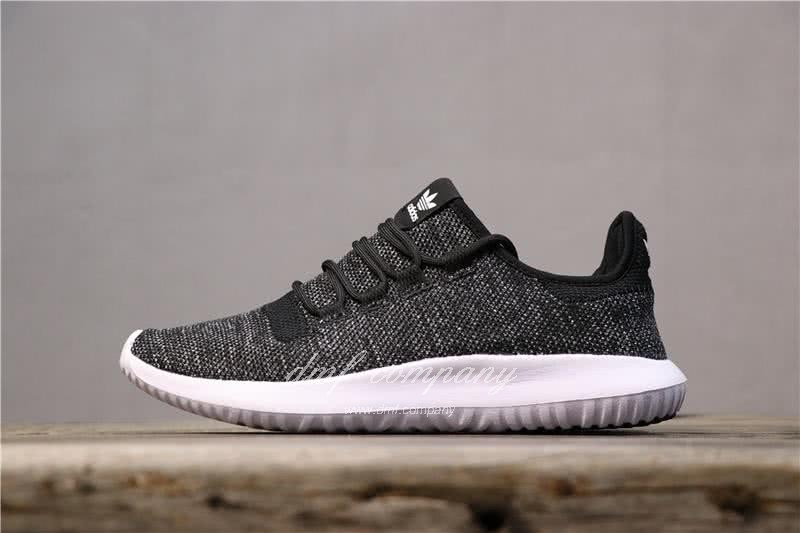Adidas Tubular Shadow Black Upper White Sole Men And Women 1