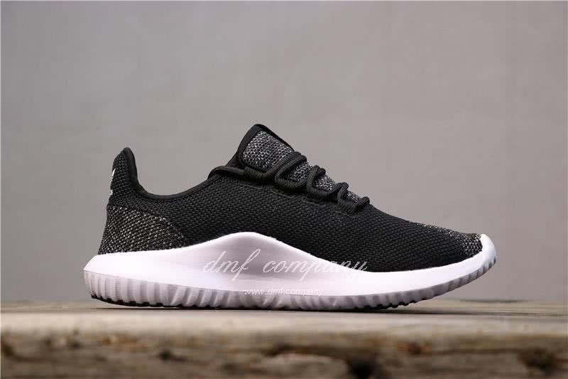 Adidas Tubular Shadow Black Upper White Sole Men And Women 2